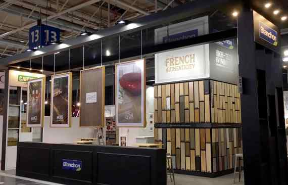 Domotex stand blanchon vacexpo realisation stand